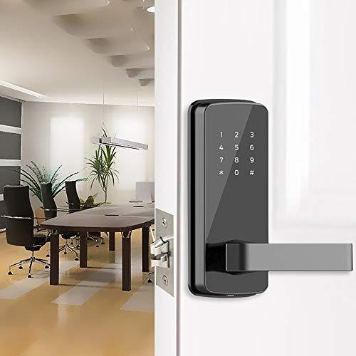 GAOPIN Combination Locks - Smart Door Lock WiFi, Keyless, App Digital Door Lock Bluetooth Smart Password Lock Pin Code Electronic Door Lock, Black,3 by GAOPIN (Image #1)