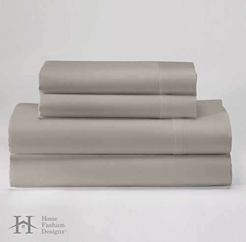 Hotel Luxury Felicity Collection - 1800 Series Egyptian Quality - Double Brushed Microfiber Sheet Set - Wrinkle & Fade Resistant Bed Sheets. By Home Fashion Designs Brand. (Queen, Taupe) (Bedroom Sets Discount)