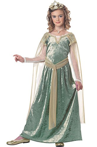 [Mememall Fashion Queen Guinevere Renaissance Medieval Child Halloween Costume] (Deluxe Guinevere Adult Costumes)