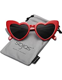 Heart Sunglasses Clout Goggle Vintage Cat Eye Mod Style...