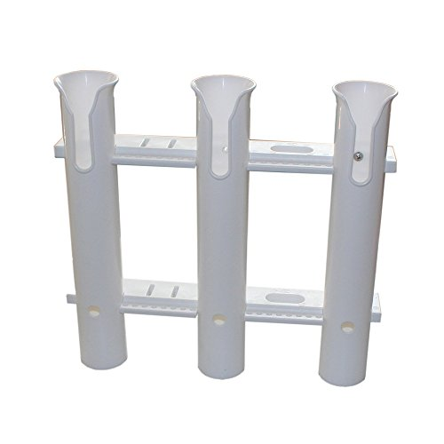 X-Haibei Three Pole Side Mount Rod Holder W/ Tool Holder Plastic White Review