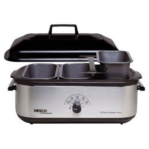 Nesco 4908-12-40PR 3-Piece Buffet Server Pans, fits any 18-Quart Roaster Oven (Roaster Oven Insert Pans compare prices)
