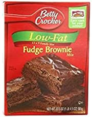 Betty Crocker Low Fat Fudge Brownie Mix (Pack of 3) 20.5 oz Boxes
