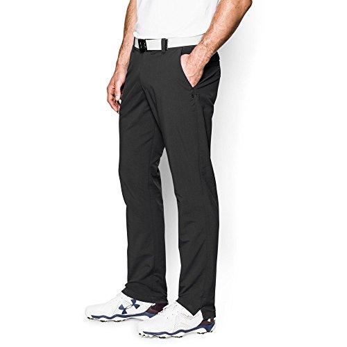 Under Armour Men's Match Play Golf Pants – Tapered Leg, Black/Black 38/34