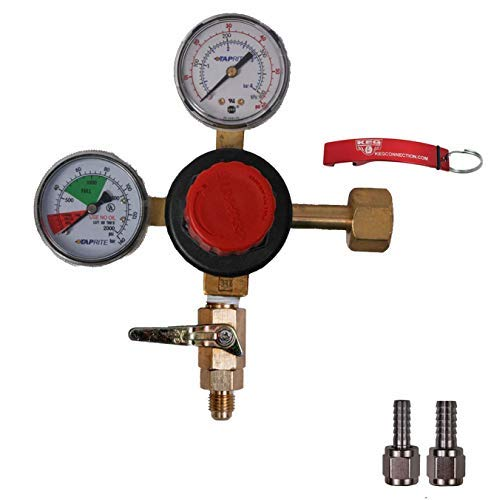 - Taprite Dual Gauge CO2 Beer Regulator with MFL Check Valve Bundle