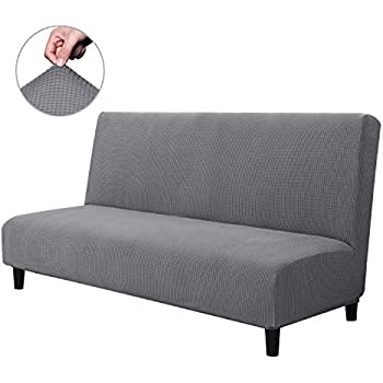 Amazon Com Gianco Ferro Solid Color Armless Sofa Bed