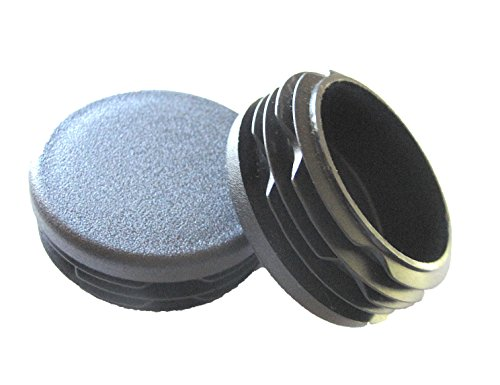 10 Pack: 1 1/2 Inch Round Plastic Plug, Pipe Tubing End Cap, Durable Chair Glide (1.25 Inch Id Pipe)