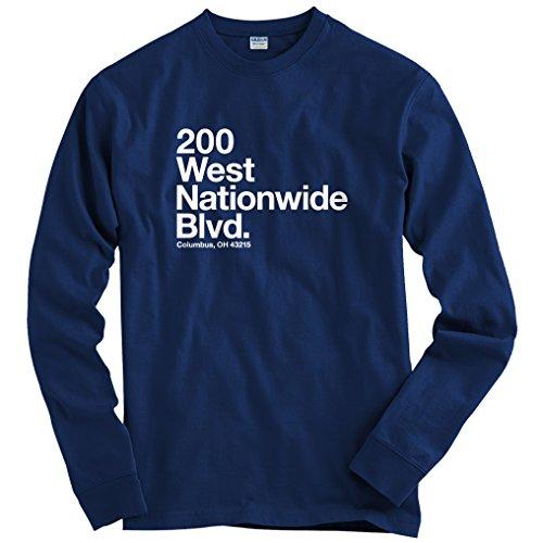 (Smash Transit Men's Columbus Hockey Stadium Long Sleeve T-Shirt - Navy, Medium)