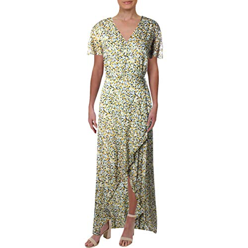 Juicy Couture Womens Ditsy Burnout Chiffon Maxi Dress