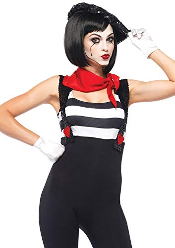 Leg Avenue Women's 3 Piece Marvelous Mime Costume, Black, Small