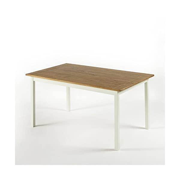 Zinus Becky Farmhouse Large Wood Dining Table