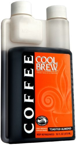Cool Brew® Fresh Coffee Concentrate - Toasted Almond 500ml- Make Iced Coffee or Hot Coffee - Enough for 16 beverages