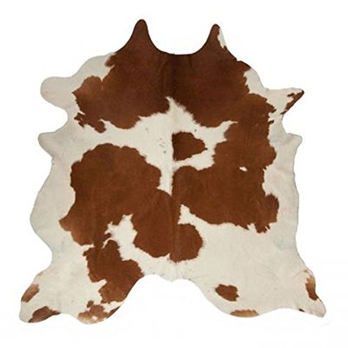 Brown and White Cowhide Rug - Luxurious Cow Hide Rug Brown White Top Quality Hair On (5 X 6) by MeshNew