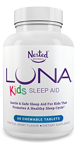 LUNA Kids (60 Tabs) - #1 Natural Sleep Aid Supplement for Children 4+ and Sensitive Adults - Herbal, Gentle & Safe Kids Sleeping Pill (Made with Melatonin, Valerian, Chamomile, Lemon Balm & More)
