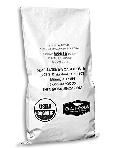 Minerals 25 Lb Bag ((25 Lb) QUINOA WHITE ROYAL ORGANIC)