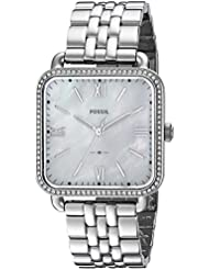 Fossil Womens Micah Quartz Stainless Steel Casual Watch, Color Silver-Toned (Model: ES4268)