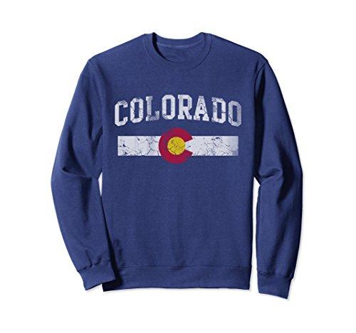 Unisex Colorado Flag Sweatshirt 2XL Navy