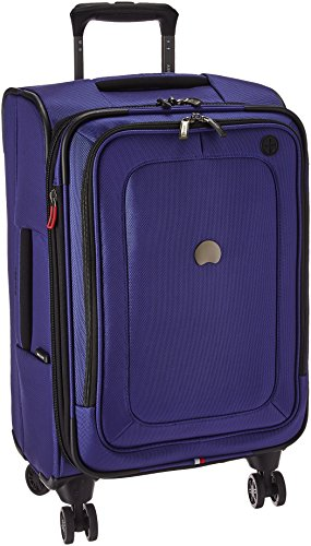 DELSEY Paris Cruise Lite Softside Carry-On Exp. Spinner Suiter Trolley, BLUE ()