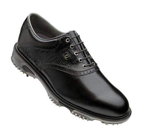 FootJoy 2013 DryJoys Tour Saddle Golf Shoes Black-Black Lizard 8.5 Medium 53676
