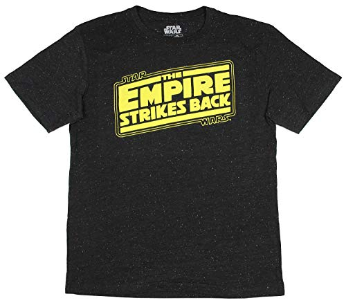 Fashion Star Wars The Empire Strikes Back Logo Graphic T-Shirt - Large