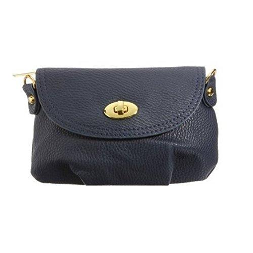 TOOGOO(R)Bolso de senora mujer Cartera Bolsa bolso de cuerpo cruzado Bolsas de mensajero hombro Azul