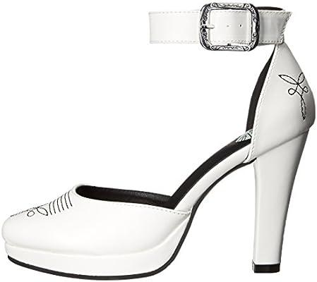 Shoes A9023L Womens Heels T.U.K White Western Starlet Heels