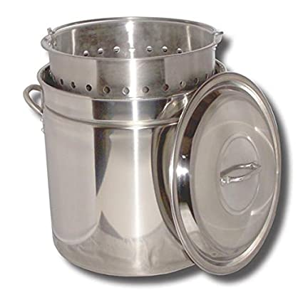 Amazon.com: King kooker 52 qt. Acero inoxidable Steen Bote ...