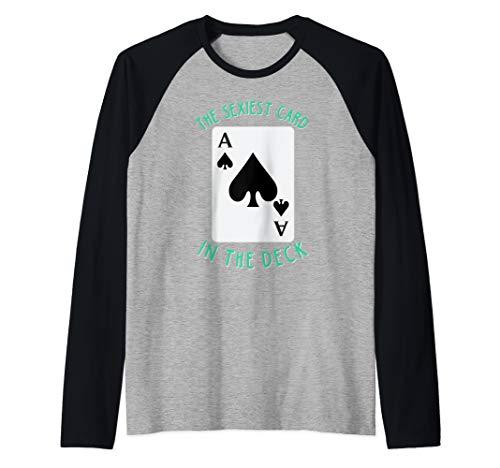 - Holdem Poker Shirt The Sexiest Card in the Deck Raglan Baseball Tee