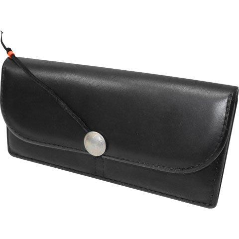 Size【フリー】goro's(ゴローズ) コンチョ付き2つ折りレザー長財布【黒】 B009L1ZE0K