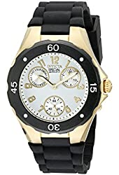 Invicta Angel Multi-Function Light Dial Black Silicone Ladies Watch 18797