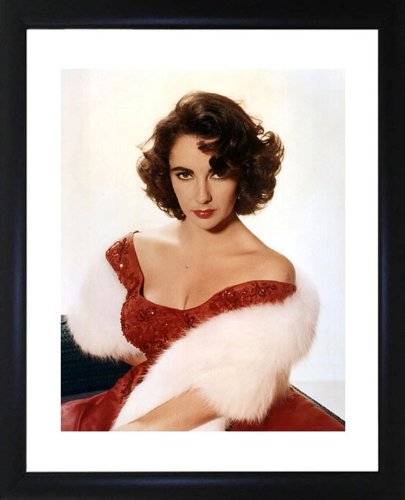 Elizabeth Real Photo - Elizabeth Taylor Framed Photo