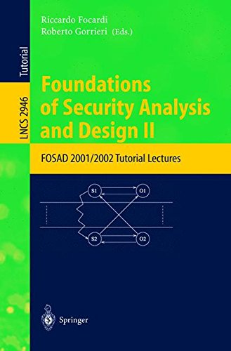 Download Foundations of Security Analysis and Design II pdf epub