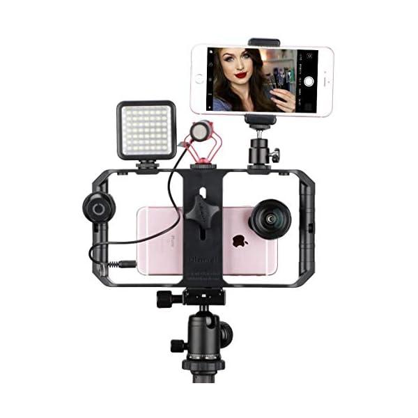 ULANZI U Rig Pro Smartphone Video Rig, iPhone Custodia Filmmaking Case, Phone Video Stabilizzatore Grip Treppiede Mount per Videomaker Film-maker Videografo per iPhone X 8 Plus Sumsang 3 spesavip