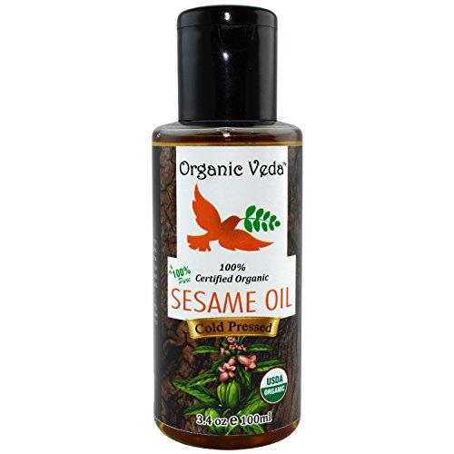 Organic Sesame Oil 100 ml. Unrefined, Cold Pressed and Pure