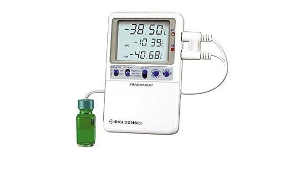 Digi-Sense Termómetro digital calibrado de alta precisión RTD para frigorífico/congelador: Amazon.es: Amazon.es