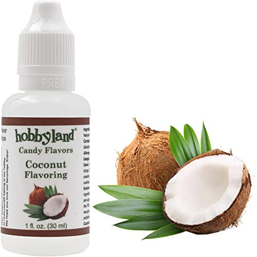Hobbyland Candy Flavors (Coconut Flavoring, 1 Fl Oz), Coconut Concentrated Flavor - Artificial Coconut