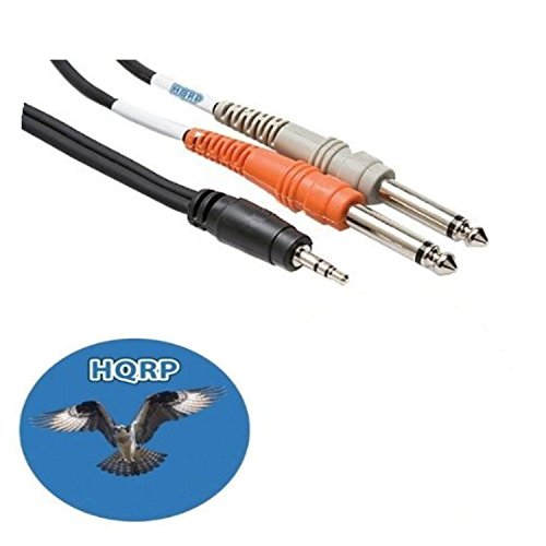 HQRP 1/8 TRS to Dual 1/4 TS Cable for M-Audio Fast for sale  Delivered anywhere in Canada