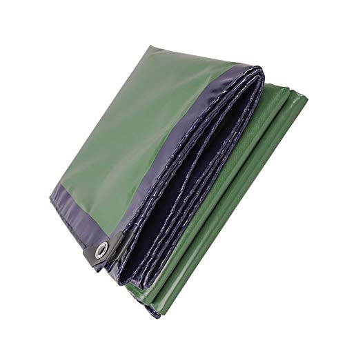 Nevy Tarpaulin Tear-Resistant High-Strength Polyester Yarn Double-Sided Waterproof Awning Cloth 500G/M² tarps (Size : 6X8M) ()