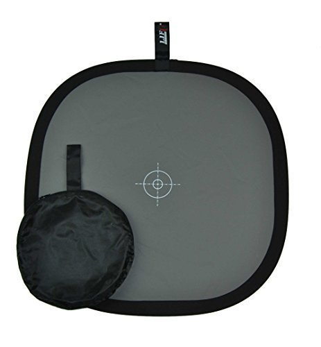 Studio-98 20 X 20'' Inch (50 X 50 Cm) White Balance 18% Grey Gray Reference Reflector Card Collapsible Foldable with a Smaller Zippered Carry bag by Life of Photo