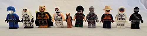 GI JOE Set of 9 Mini Figures Fit All Lego Playsets with Cobra Commander, Stormshadow, Snake Eyes, Sgt. Slaughter and More