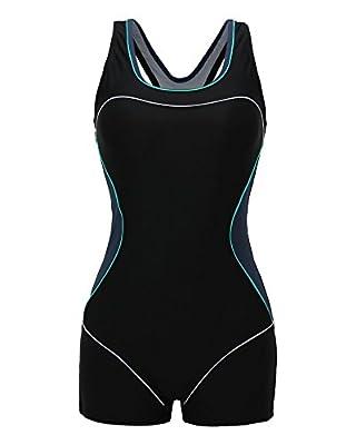 ReliBeauty Womens Boy-Leg One Piece Swimsuit