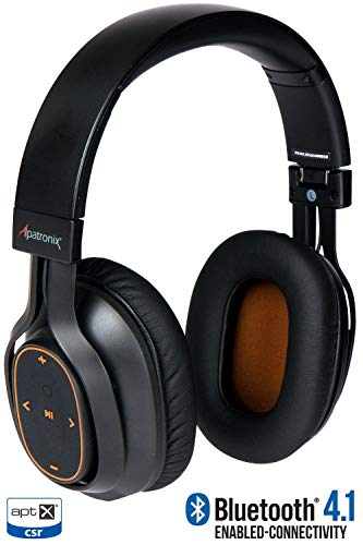 Bluetooth Headphones, Alpatronix HX101 Universal HD Noise Isolating Wireless Stereo Headset with Built-in Mic, Volume/Playback Controls, AptX, CVC 6.0, BT 4.1 [30+ Hrs. of Playback Time] - ()