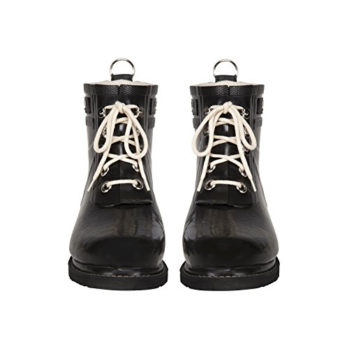 Ilse Jacobsen Rub2 Matte Black Rubber Ankle Rain Boots Shoes New by ILSE JACOBSEN (Image #1)