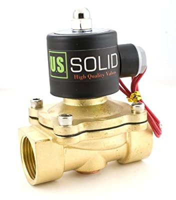 "1"" Brass Electric Solenoid Valve 24VDC Normally Closed VITON Air Water Fuel"