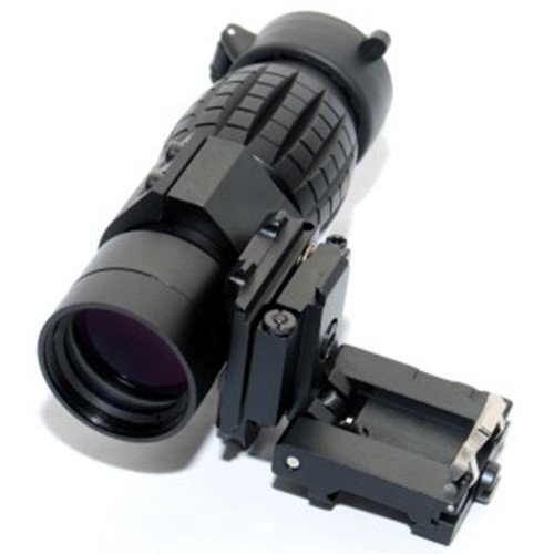 Noga Tactical 3X Magnifier Scope Sight With Flip To Side Mount For 20mm Rail