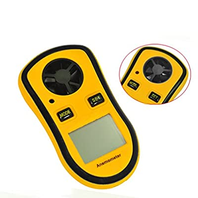 Szxhf GM8908 THE BEST Wind Speed Meter Measures Wind Speed +Wind Chill with Backlight For Windsurfing Kite Flying Sailing Surfing Etc, LCD Digital Wind Speed Temperature Measure Gauge Anemometer