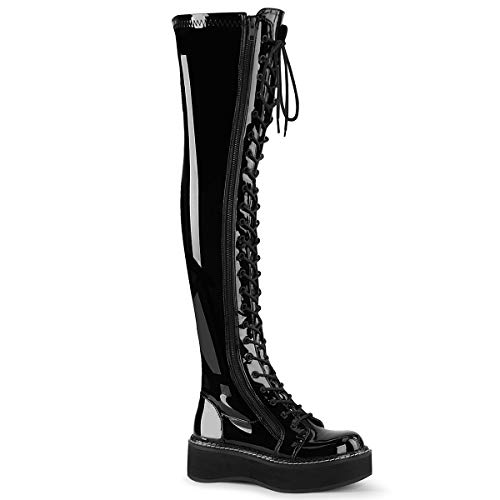 Demonia Women's Emily-375 Thigh-High Boots