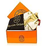 Marino Orlandi Italian Designer Cream Leather Drawstring Sling Bucket Bag