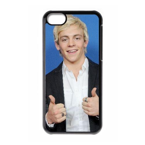 Q8E40 Ross Lynch P1R9JL cas d'coque iPhone de téléphone cellulaire 5c couvercle coque noire KP5BJU2RC