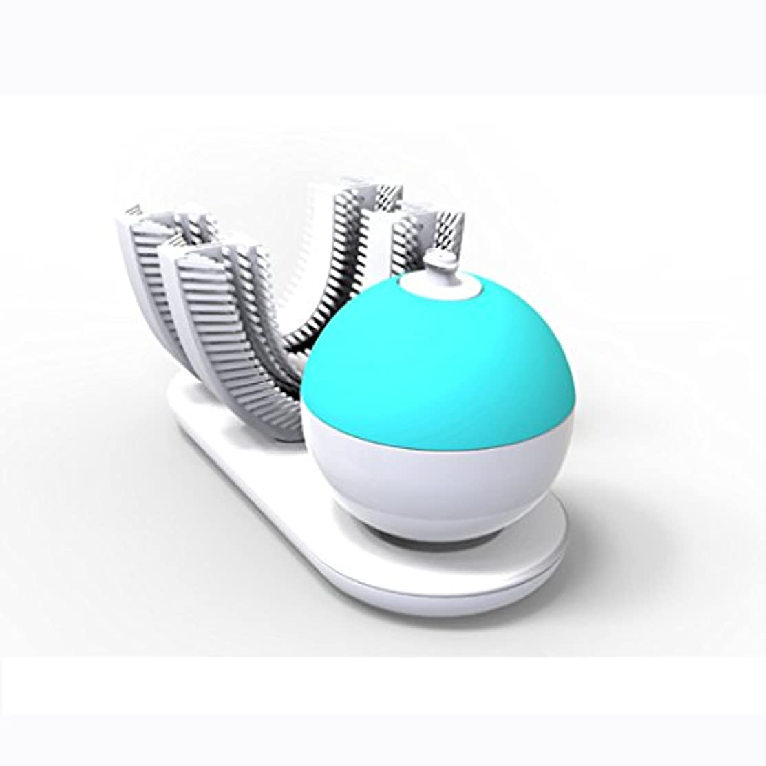 心理的直感シチリア電動歯ブラシ、完全に包まれた自動レイジーブラッシングアーティファクト、スマートシリコン電動歯ブラシ、歯茎を傷つけることなく歯をきれいにする360°